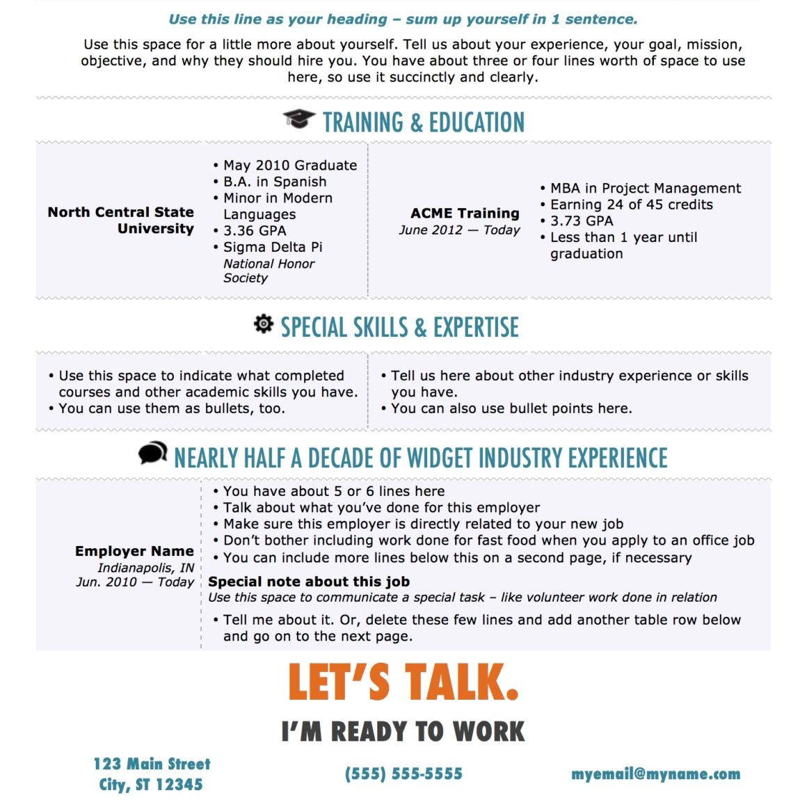 The Muse Free Resume Templates Freeresumetemplates