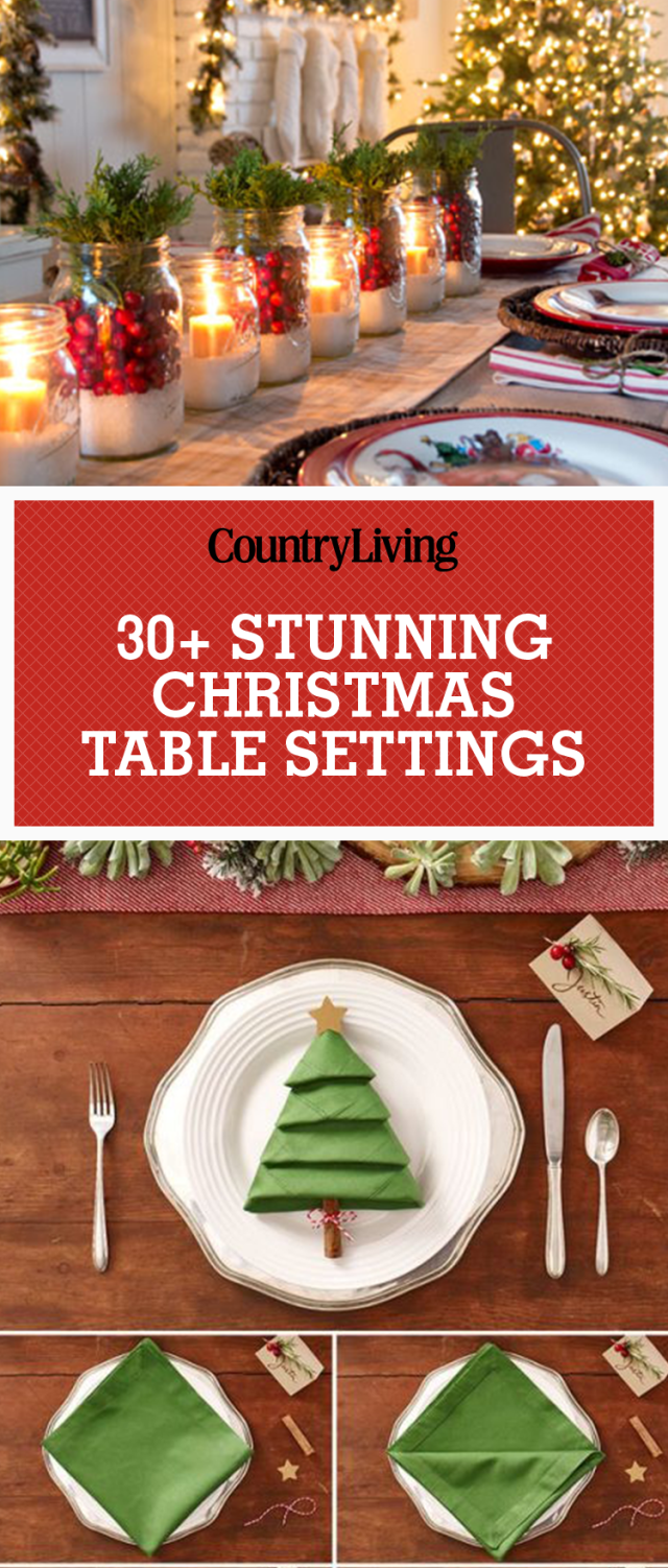 49 Holly Jolly Christmas Table Settings & Centerpieces | Pinterest ...