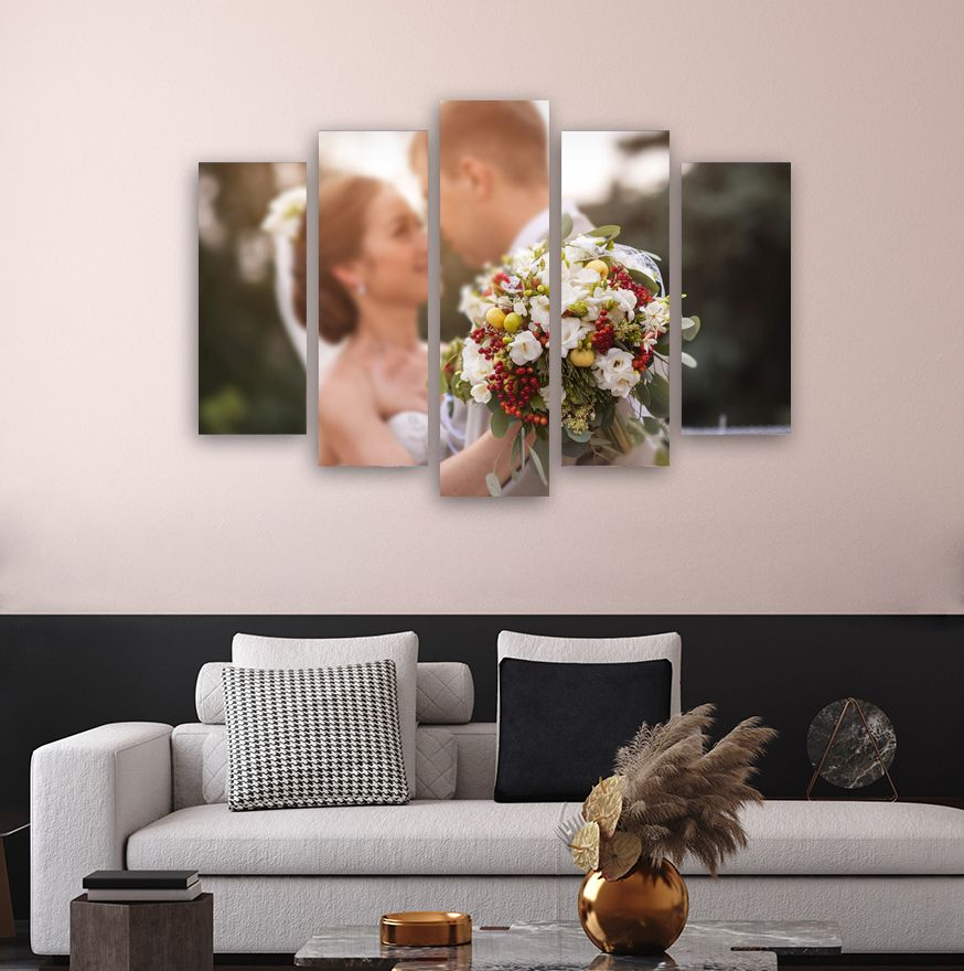 Personalized Canvas Print Custom Wall Art Decor Wedding Etsy Custom Wall Art Custom Canvas Art Personalized Canvas Print