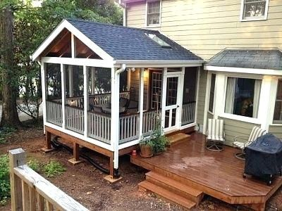 Screened In Porch Cost Best Porches Ideas On Front Patio Enclosure