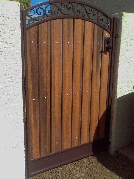 Side gate design home ideas pinterest side gates for Wooden front gate designs