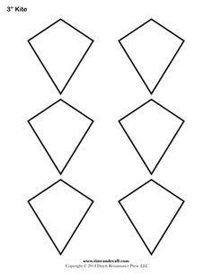 Free Kite Templates, various sizes | felt | Pinterest | Kite ...
