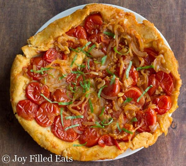 Rustic Tomato Tart Low Carb Grain Free Thm S No Carb Bread