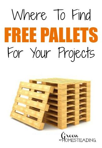 Where To Find Free Pallets For DIY Projects | Free pallets ...