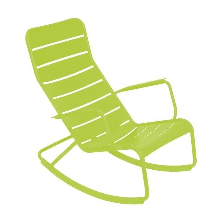 Fermob - Luxembourg Schaukelstuhl - hellgrün eisenkraut/lackiert ...