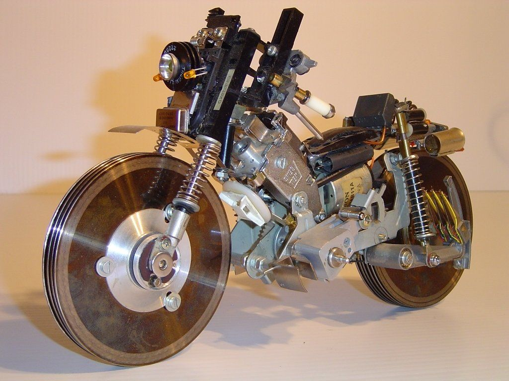 Another View Of Motorcycle 2 Alexandromedacom Computer Part Circuit Board From Notebook Desk Clock Geekery Clocks By