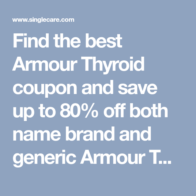 coupon for armour thyroid