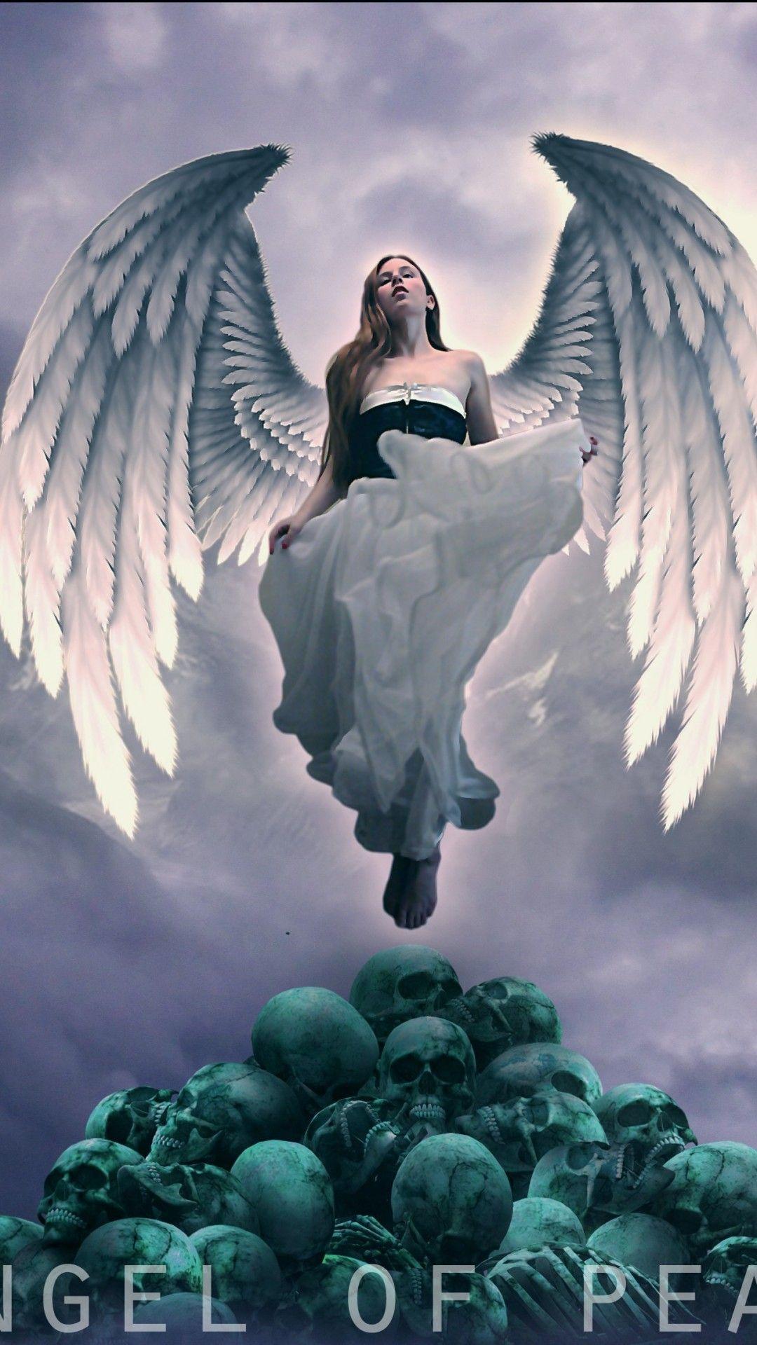 Angel Horror Mobile Hjd Wallpaper Angel Wallpaper Scary Wallpaper Deadpool Hd Wallpaper