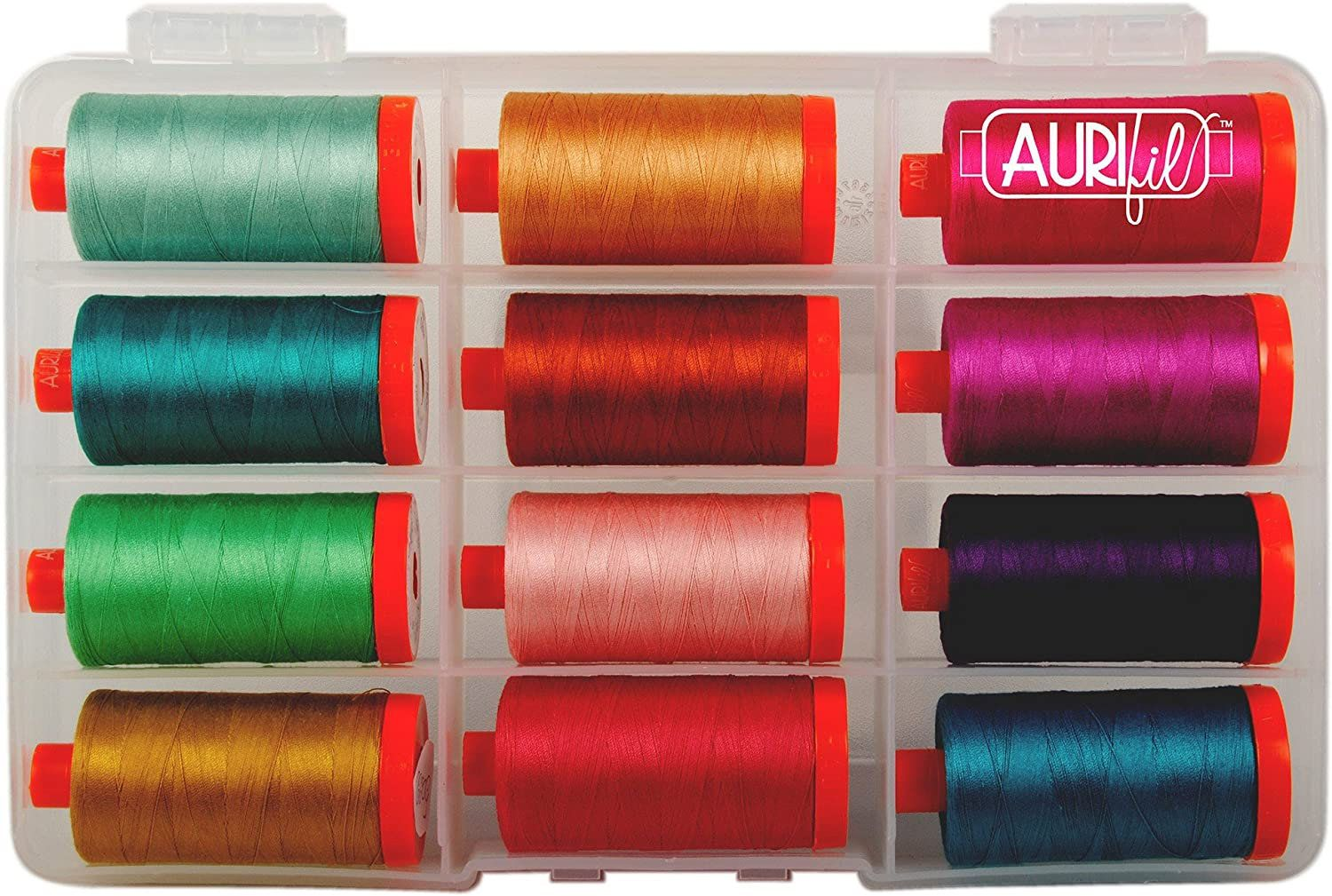 Thread Collection by Valori Wells for Aurifil 50wt 12 Large Spools VW50TC12