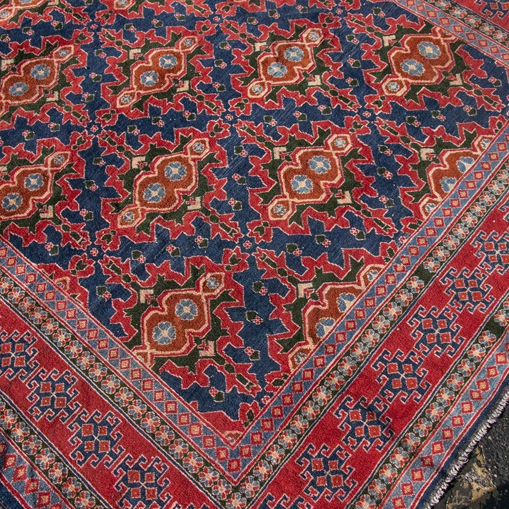 6 11 X7 10 Chinchin Afghanistan Red And Navy Rug Rugs Navy Rug Afghanistan