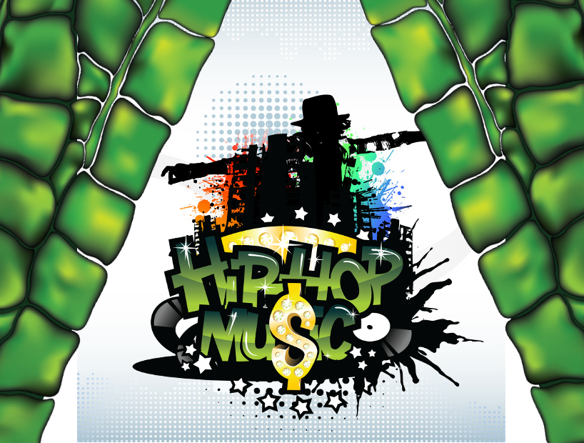 Hier kann man ein Cover aus der Herbalgator Music Collection sehen. In diesem Fall handelt es sich um das Cover das für Hip Hop Songs verwendet wird.