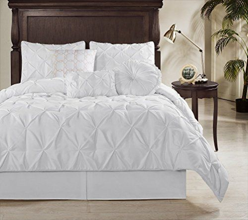 Chezmoi Collection Sydney Pinch Pleat Pintuck Bedding Comforter Set All Sizes