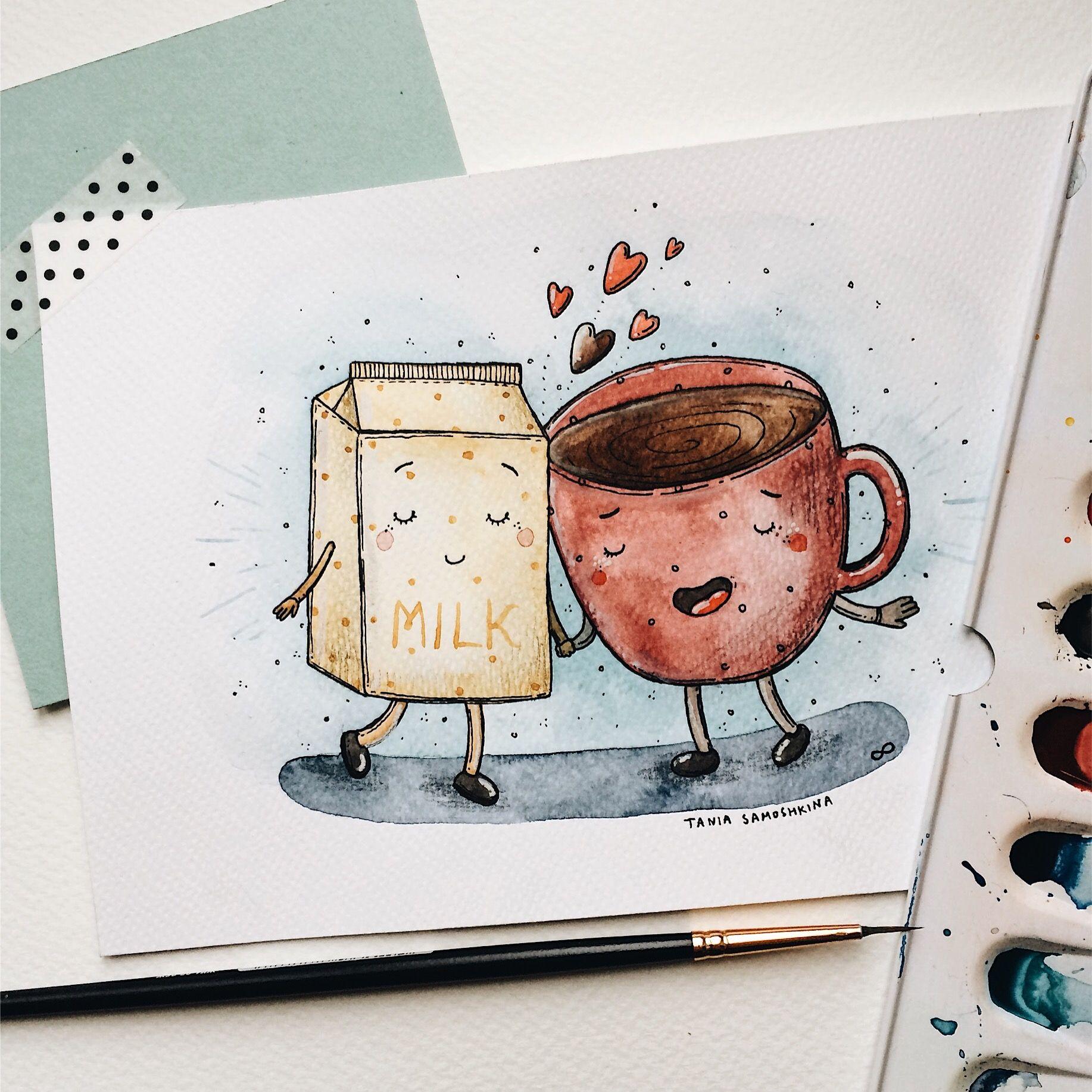 Прикольные идеи для рисунков акварелью легкие