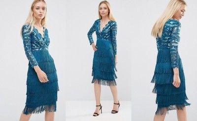 222a00015 City Goddess Sukienka Z Fredzlami 40 6724822927 Oficjalne Archiwum Allegro Fashion Flapper Dress Dresses