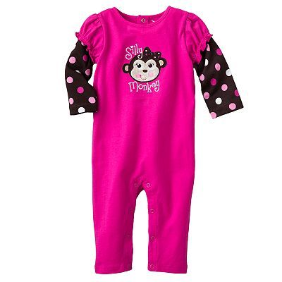 Jumping Beans Mock-Layer Applique Coveralls - Baby. Size: 3-18M. Price: $9