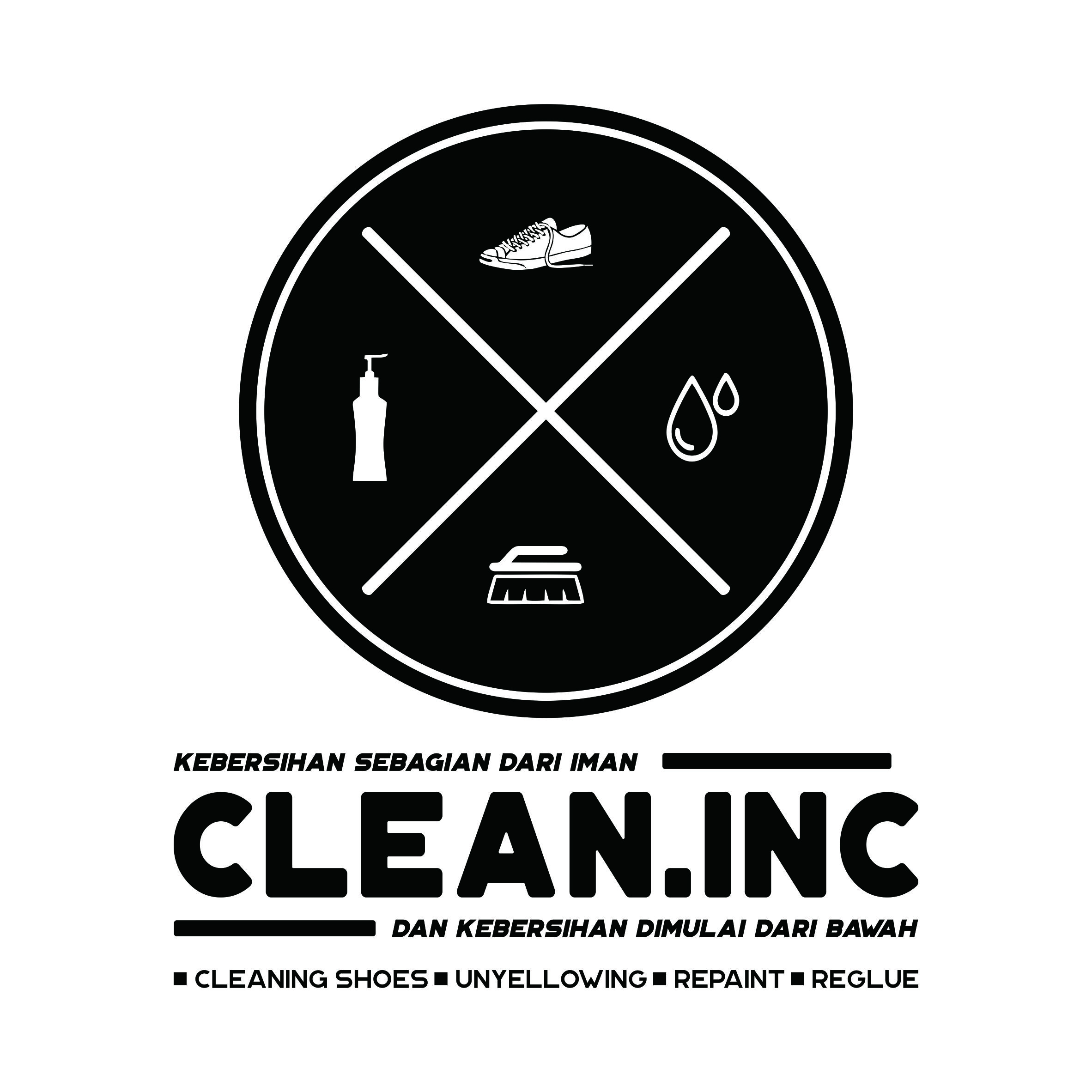 Clean.Inc Shoes Cleaner Artwork logo by Yogatama yalesena