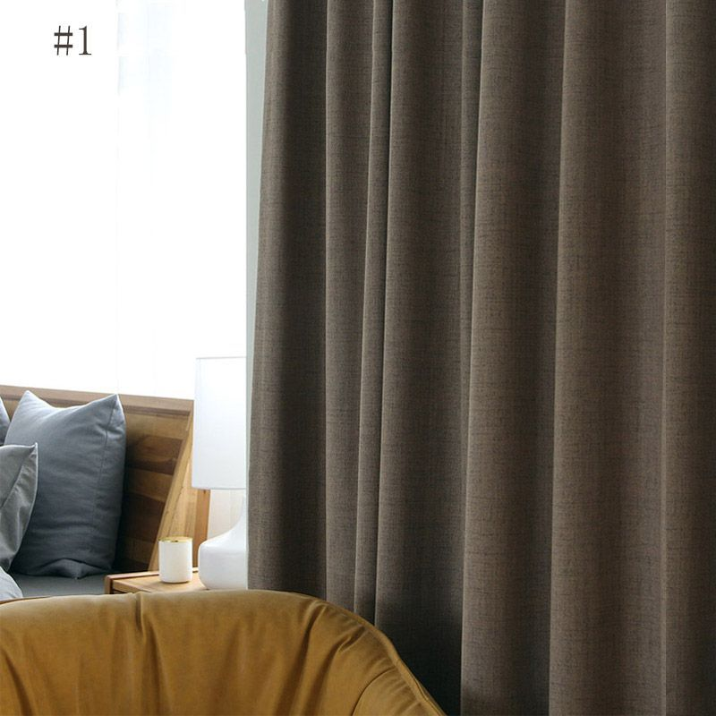 Modern Simple Curain Waterproof Insulated Curtain Living Room Office Solid Fabric One Panel Living Room Office Curtains Living Room Insulated Curtains