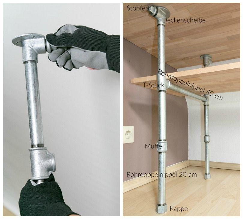 diy m bel tisch aus rohren selber bauen ausf hrliche anleitung auf deutsch handwerken. Black Bedroom Furniture Sets. Home Design Ideas