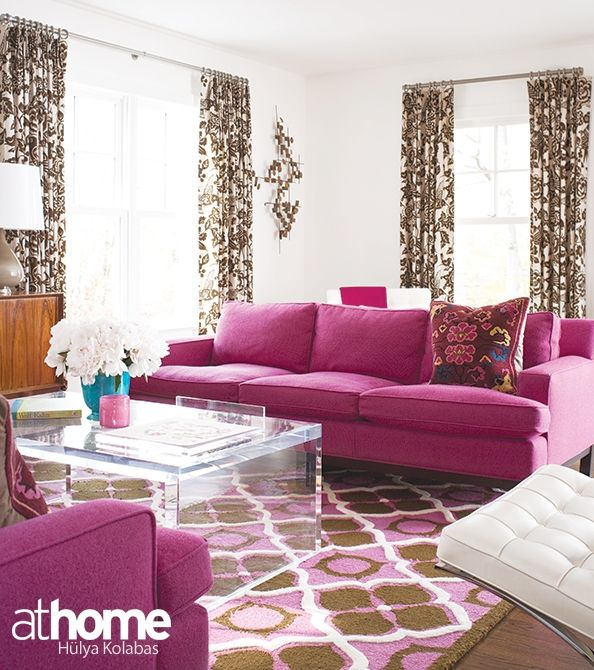 Tickled Pink! Living Room Design Inspiration | Fairfield County, CT ...