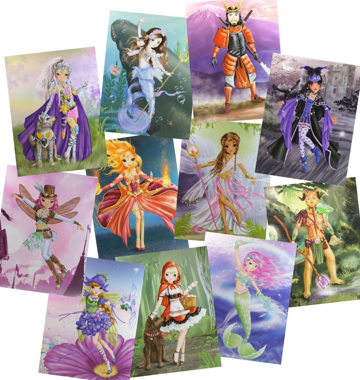 Depesche TopModel Create your Fantasy Model Malbuch: Amazon.de ...