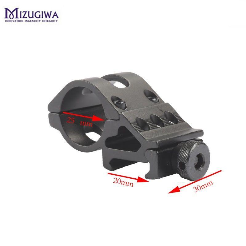 30mm Ring 45° 20mm Picatinny Rail Weaver Offset Flashlights Scopes Laser Mount