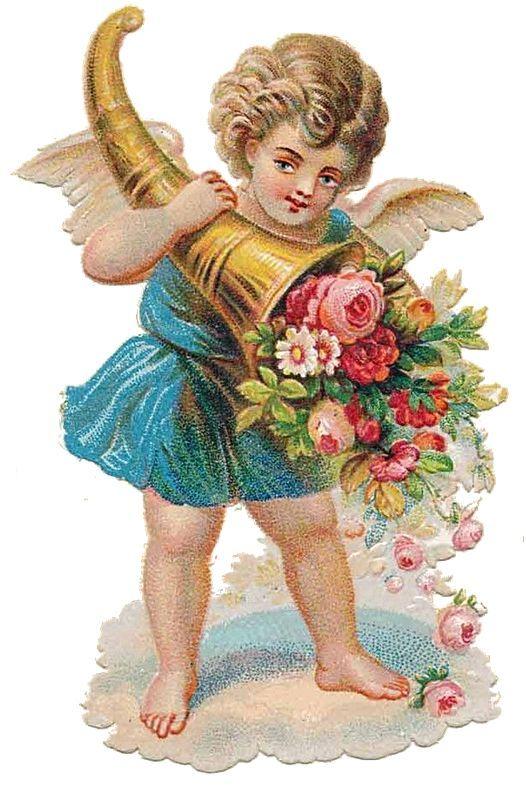 Bild einbinden: Angel Victorian die-cut-Victorian scrap