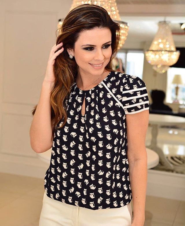 544d7489c Image result for pinterest blusas de moda Tendências Da Moda Verão, Blusas  Estilosas, Blusas