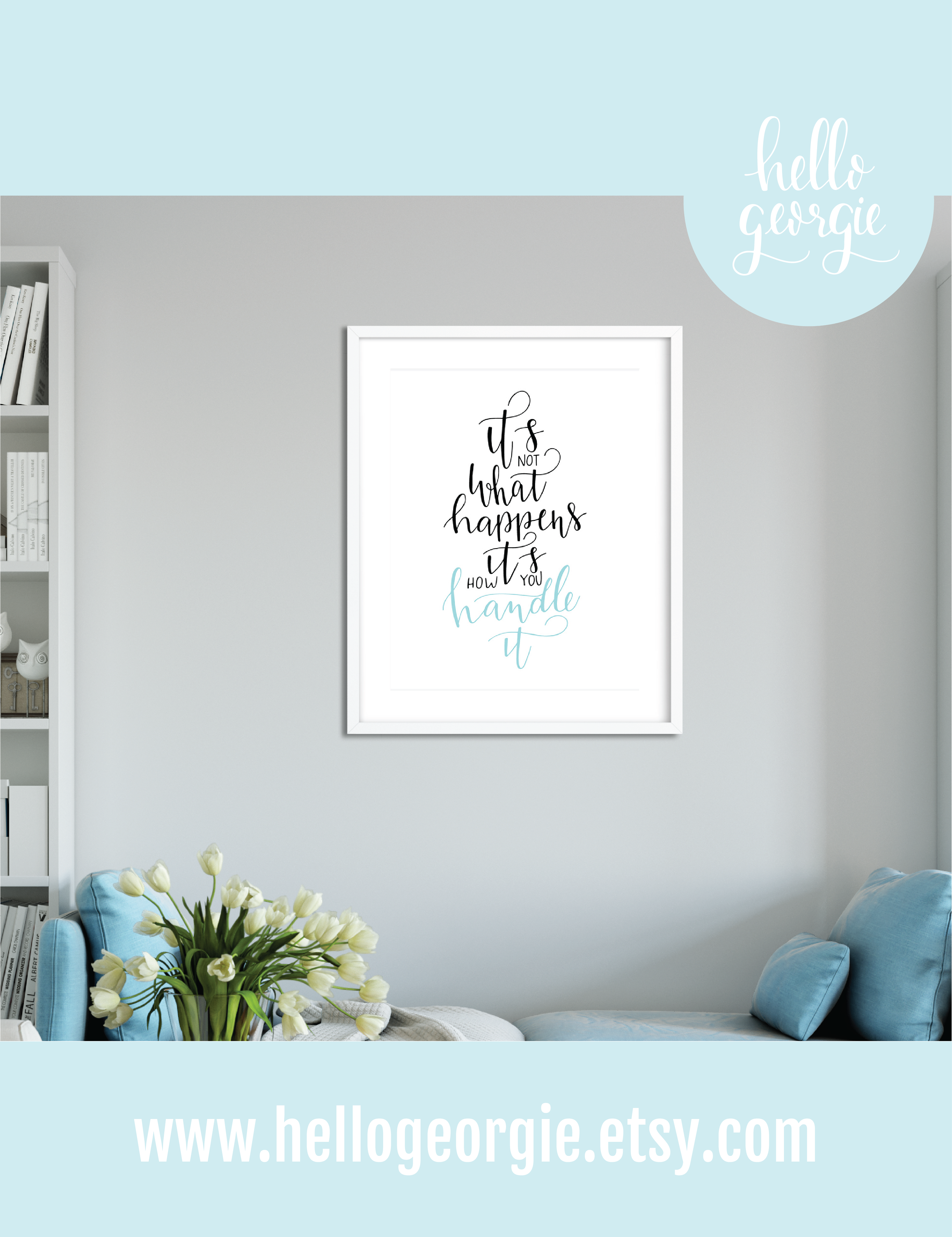 Modern Minimalist Quote Art Hand Lettering Quote Print