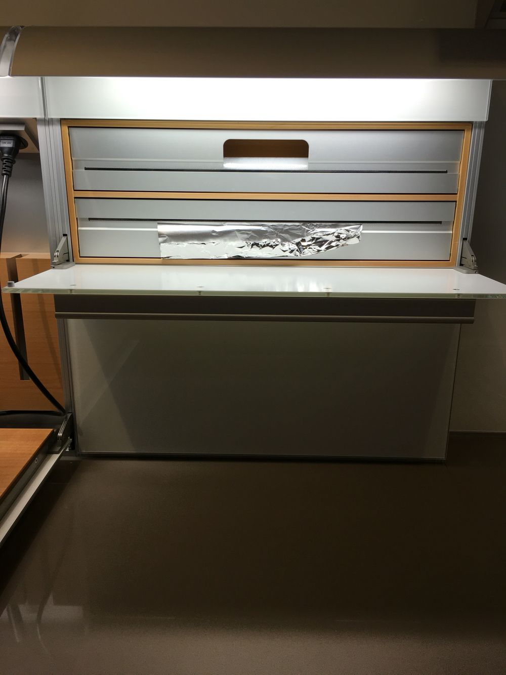 Bulthaup function box with roll holder Bulthaup flagship Kaohsiung Taiwan