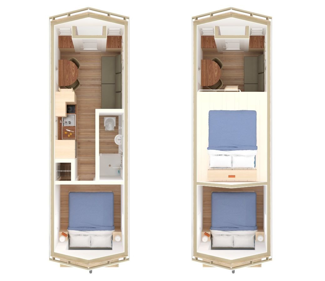 Tiny Home Design Plans. Little River 24 Tiny House Interior Floor Plan  tiny house