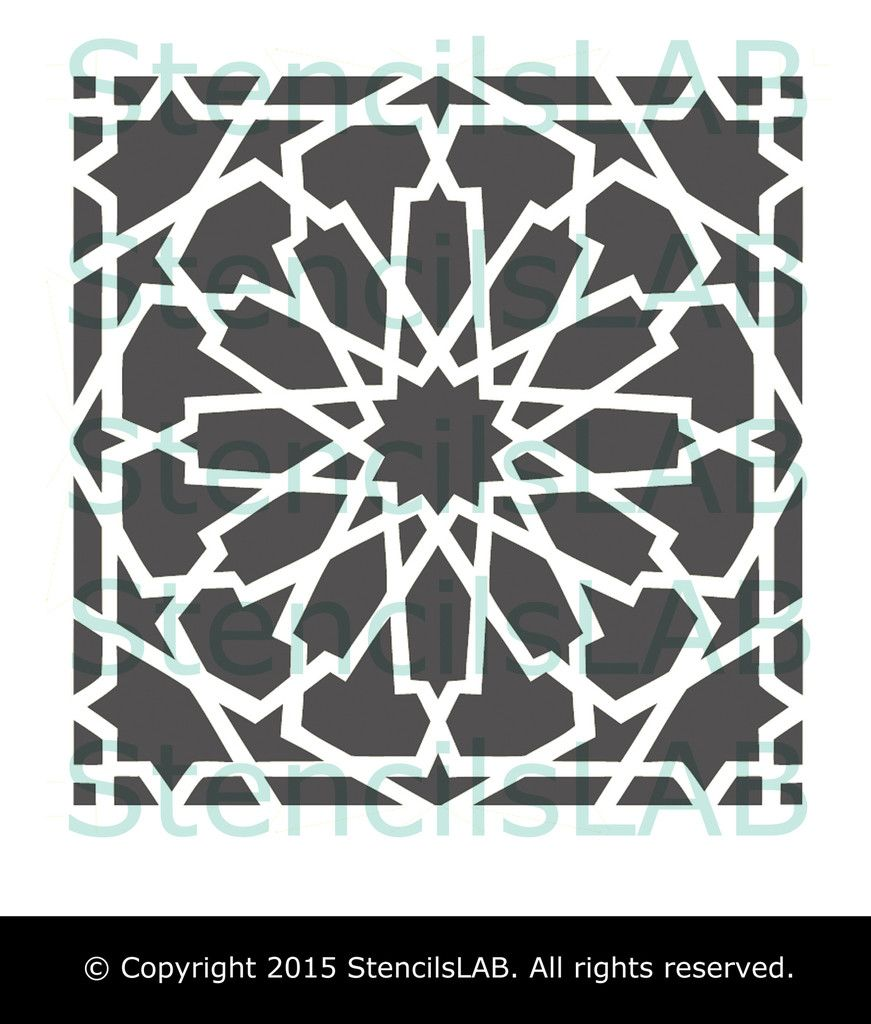 The modern alhambra stencil is among our newest geometric designs the modern alhambra stencil is among our newest geometric designs this reusable stencil was inspired amipublicfo Gallery