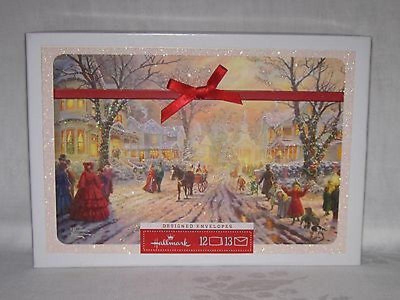 Thomas Kinkade Christmas Cards Boxed Hallmark Christmas Cards ...