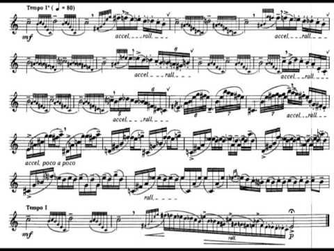 Astor Piazzolla - Six Tango Etudes for Flute (1987) [Score