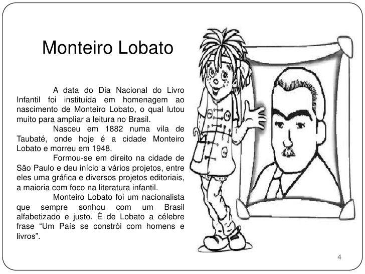 Projeto: Sítio do Pica Pau Amarelo   Dia nacional do livro