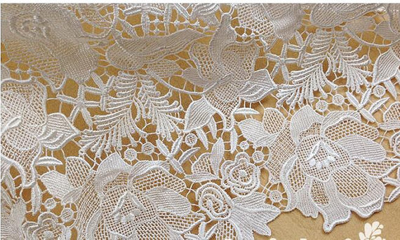 lace fabric, floral lace fabric, guipure lace fabric, venise lace fabric, venice lace, off white lace fabric