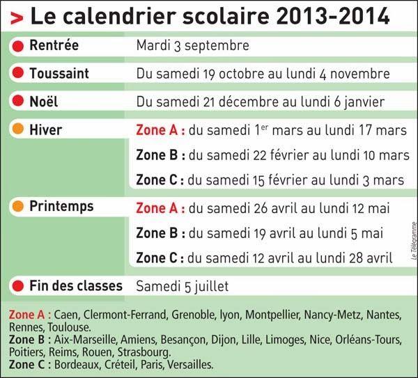 Calendrier Deg Orleans.Le Calendrier Scolaire En France 2013 2014 Ap La Fam Et