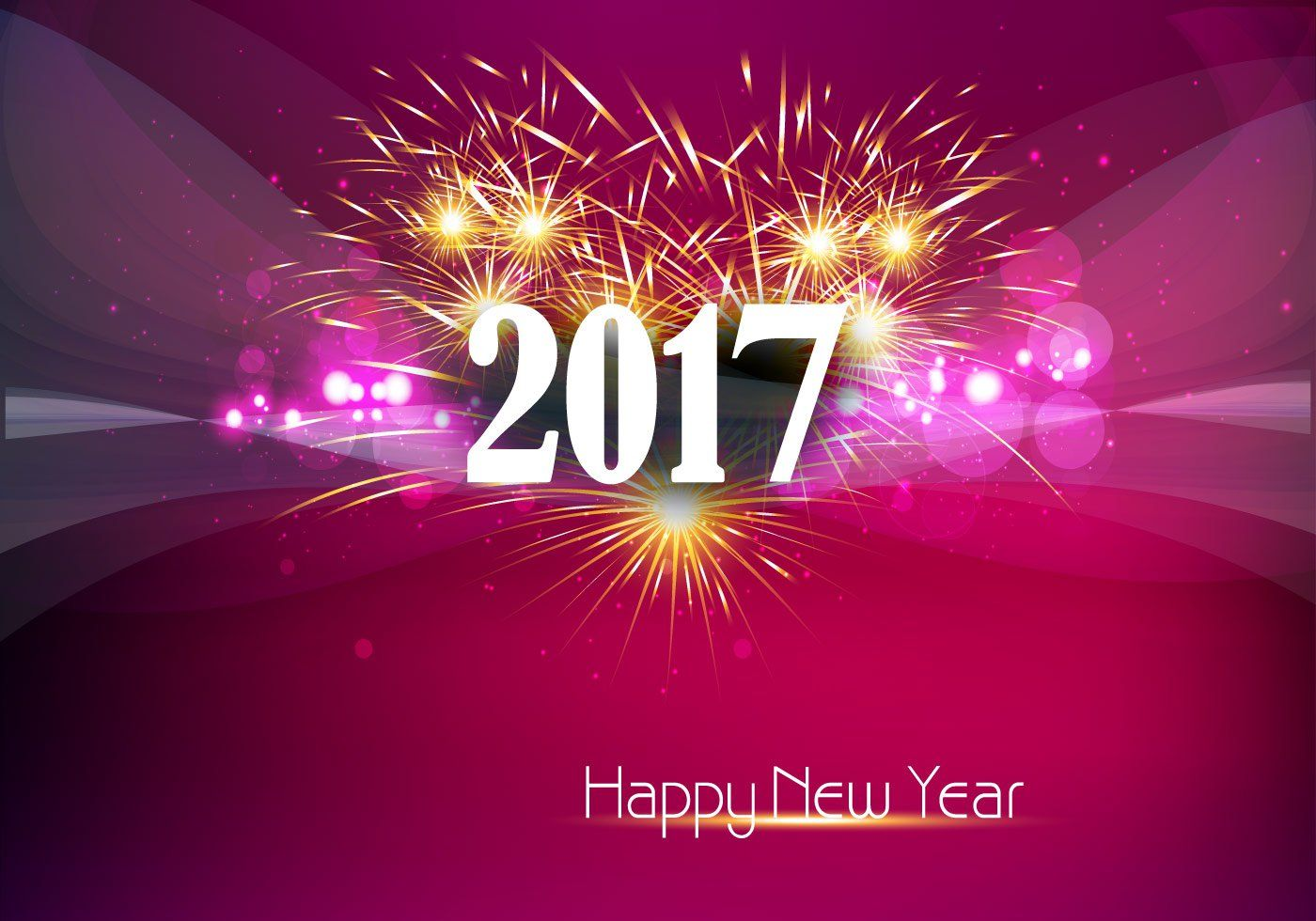 Happy New Year 2017 Banner With Fire Cracker New Year Pinterest