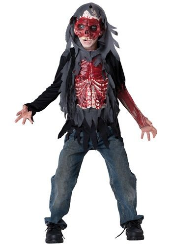 Zombie Walking Dead Horror Halloween Men Costume Vinyl Chest Cover