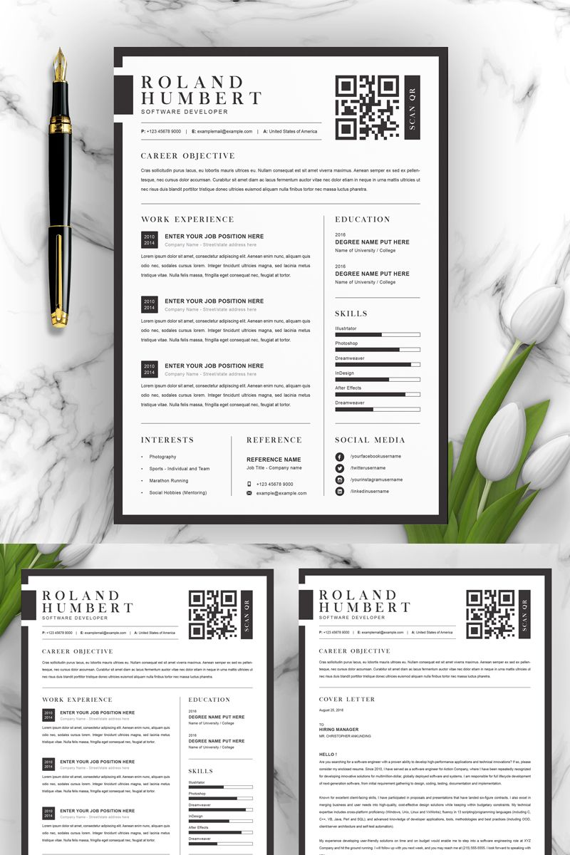 Roland Resume Template 96782, Ad Resume Template
