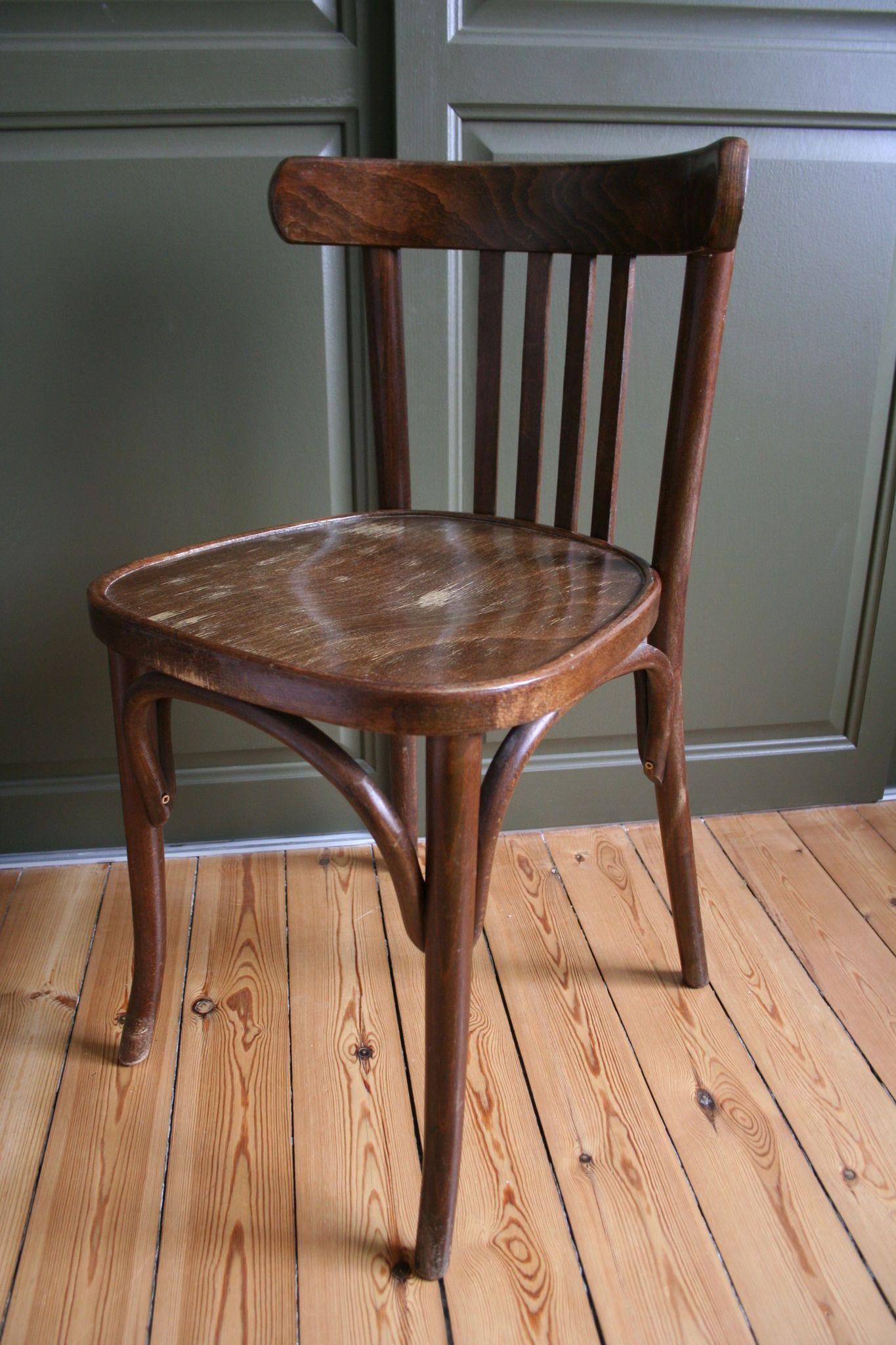Chaise bistrot industrielle bois et métal Fer Forgé