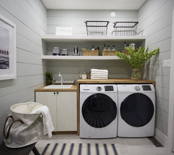 Keep Your Laundry Room Light And Bright With These Clever Design