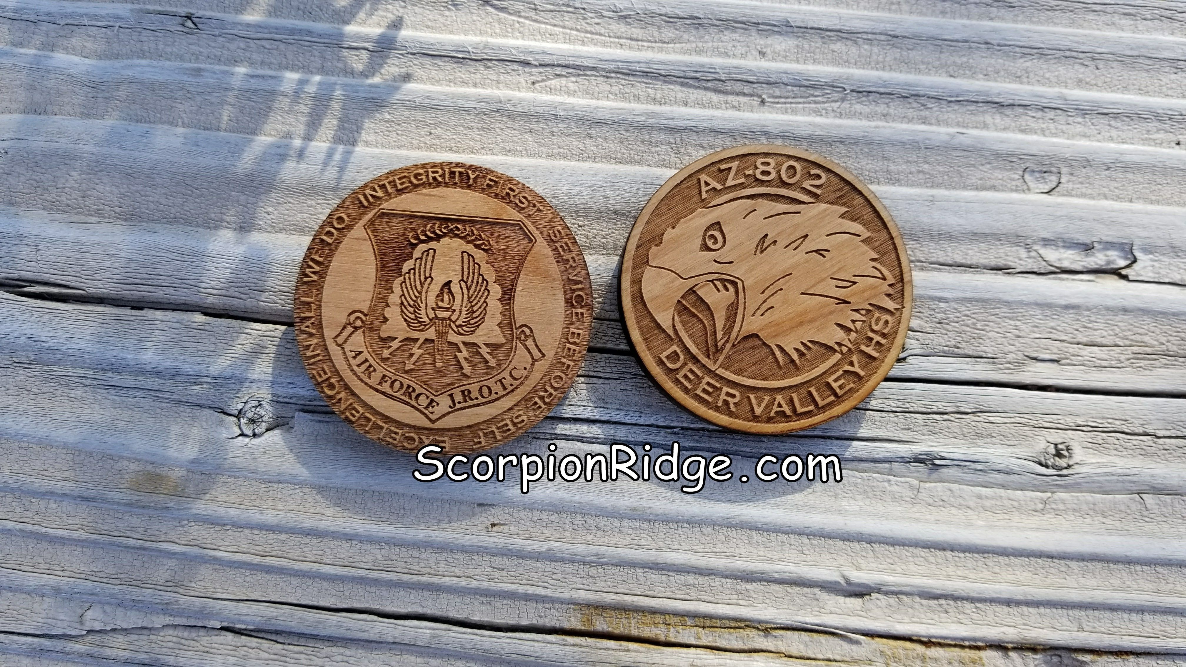 JROTC Challenge Coins for your High School custom made to your