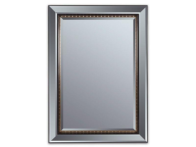 Espejo biselado con marco negro y dorado espejo biselado for Marcos para espejos de pie