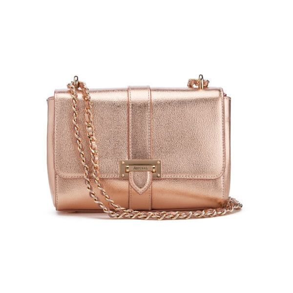 Aspinal of London Women's Lottie Bag - Rose Gold ($485) ❤ liked ...