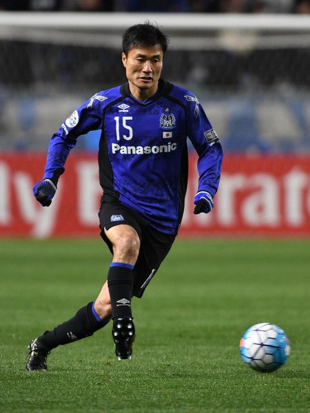 Yasuyuki Konno of Gamba Osaka in action during the AFC Champions League Group H match between Gamba Osaka and Jiangsu FC at Suita City Football Stadium on March 15, 2017 in Suita, Japan.