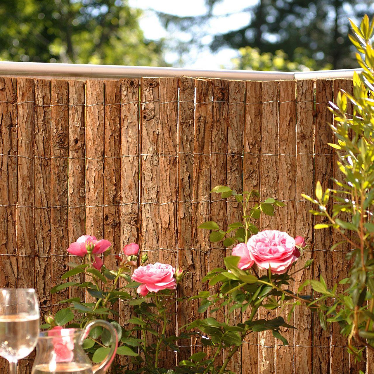 Rindenmatte, Balkonverkleidung Bretagne natur