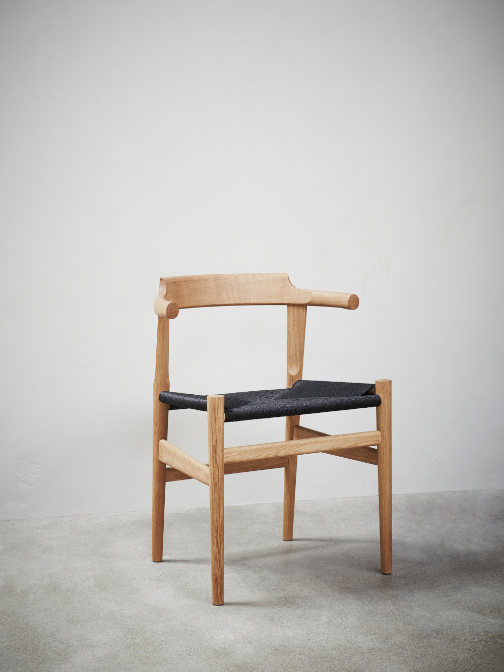 PP68 Chair Oak Black Paper Cord Chair, Affordable