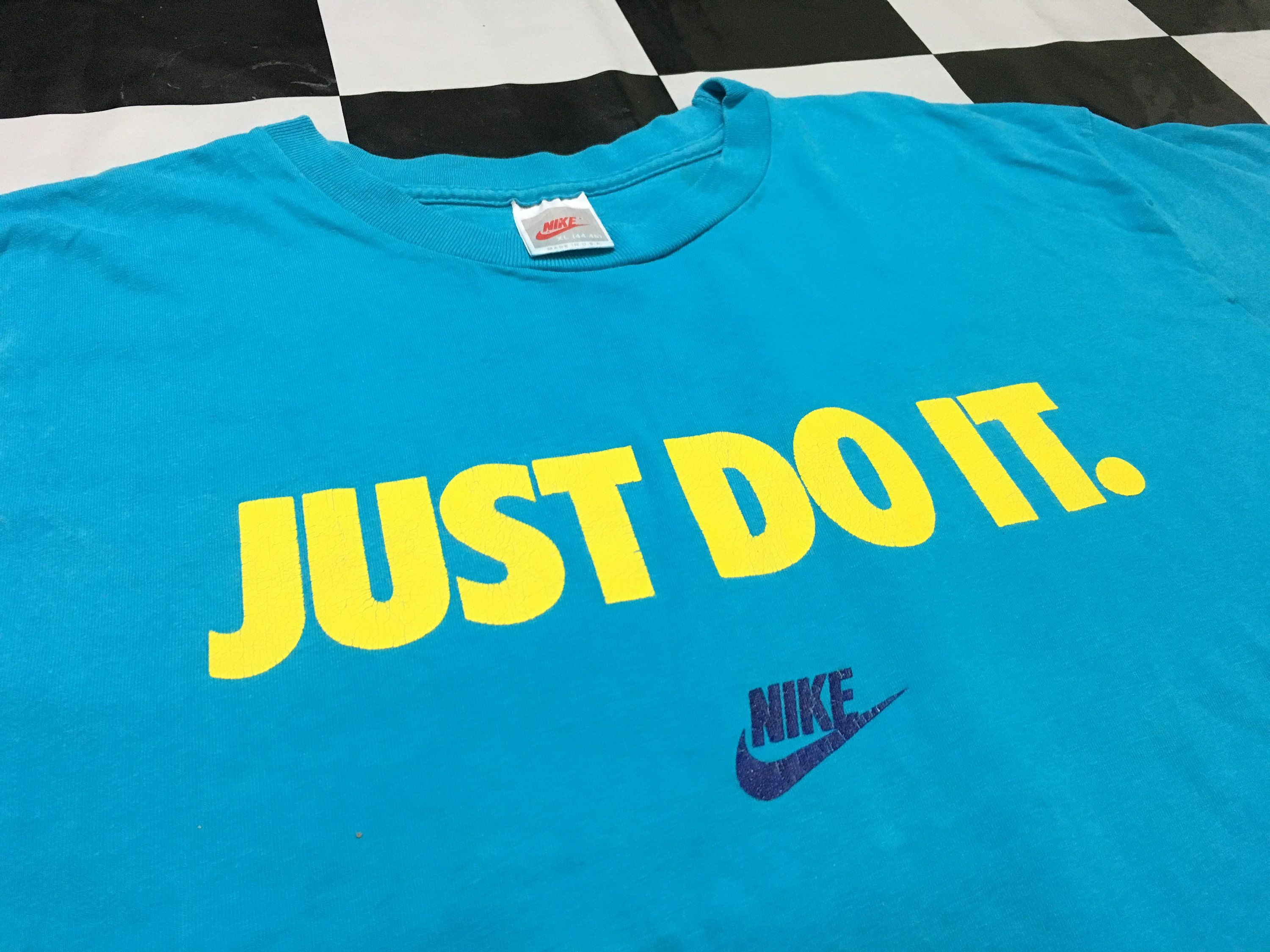 Vintage Nike T Shirt Nike Just Do It Crop T Shirt Good Condition By Alivevintageshop On Etsy Vintage Nike Nike Tshirt T Shirt