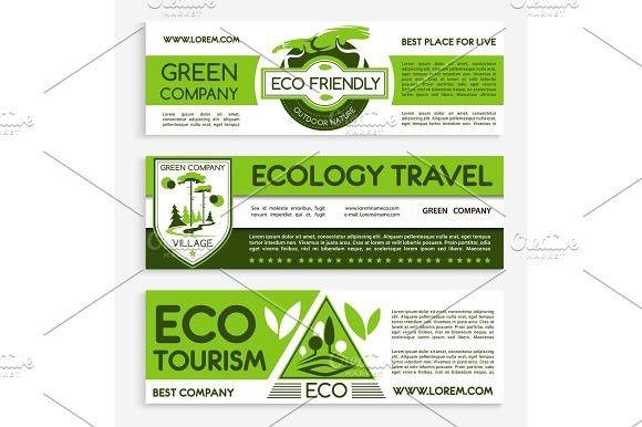 Green Travel And Ecotourism Banner Template Design การออกแบบแบรนด