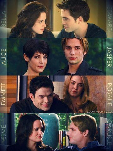 The Cullen couples <3 | The Cullen Family | Twilight